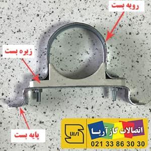 اجزای سازنده بست پایه دار یا بست دو پایه   اتصالات جوشی آریا